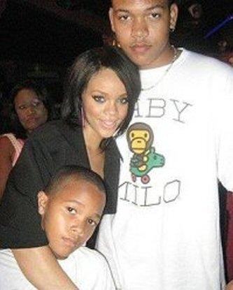 Rihanna's brothers Rorrey & Rajad.