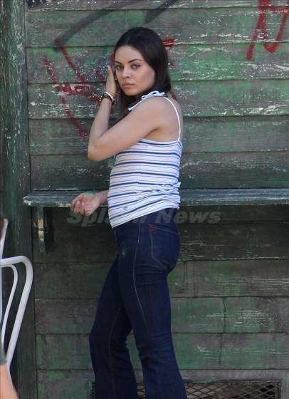 new milla kunis pregnant 3 Admit It Mila Kunis! Youre Totally Pregnant!