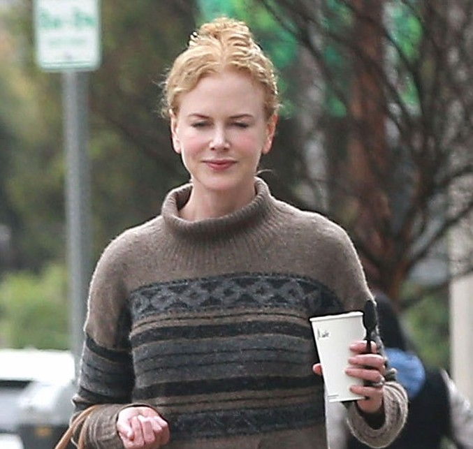 Exclusive... Nicole Kidman Stopping By Starbucks In Studio City
