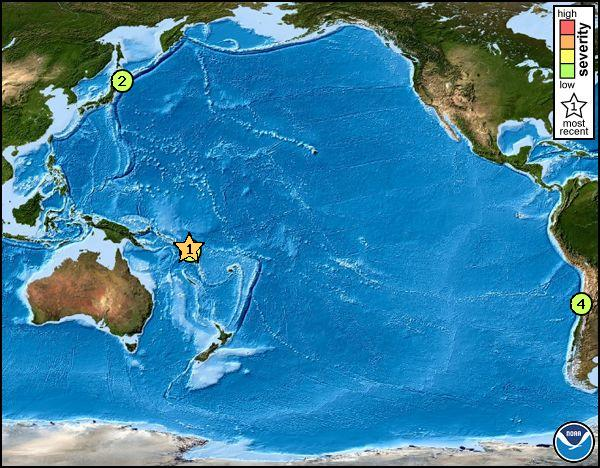 npacific map 8.0 Earthquake Triggers Tsunami Warning in Pacific Ocean