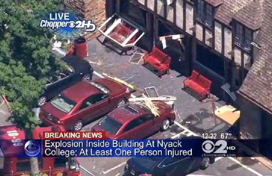 nyack explosion EXPLOSION ROCKS Christian College 7 HURT