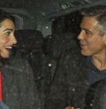 George Clooney out and about, London, Britain - 24 Oct 2013