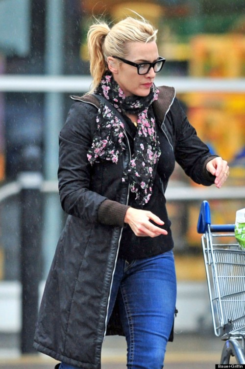 Winslet goes grocery shopping