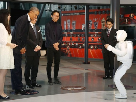 obama bows to robot