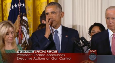 obama crying over gun control