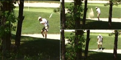 obama golfing sand trap
