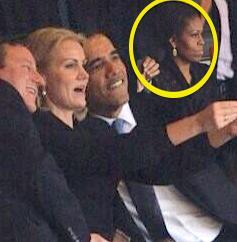 Obama selfie michelle mad