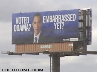 obamabill Voted Obama? Embarrassed Yet? Billboards Springing up