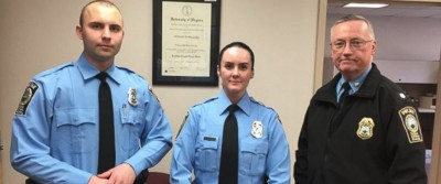 officer ashley guindon woodbridge swearing in