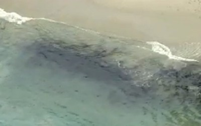 oil slick santa barbara 7 29 15 2 400x251 OIL SLICK Spotted Off Santa Barbara AGAIN! [LIVE FEED]