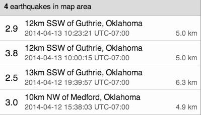 ok quakes