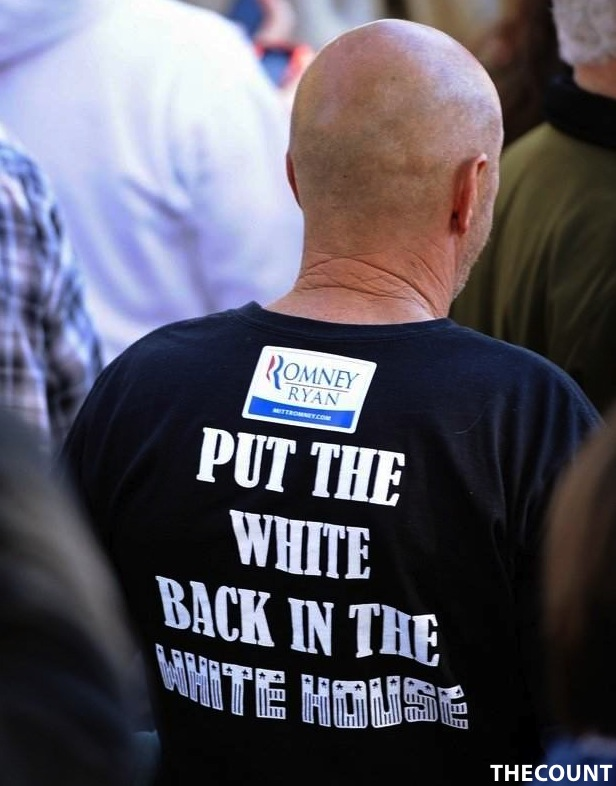original1 Romney Supporter SHOCK T SHIRT Put The White Back In White House