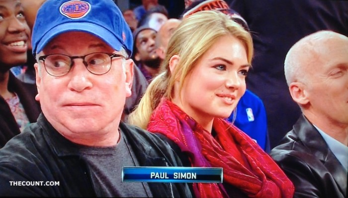 paul simon kate upton 2 700x399 Paul Simon Kate Upton Heat Knicks Game