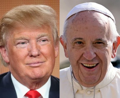 pope trump comments christian