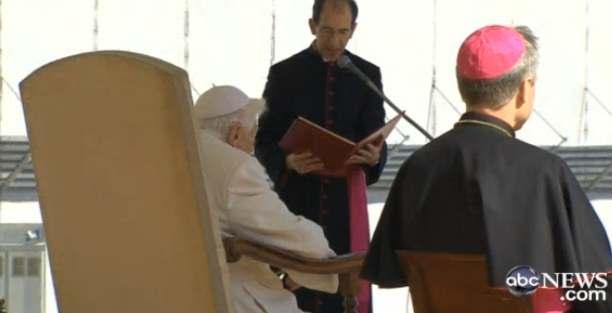 popes last address