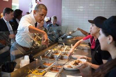 president obama Chipotle