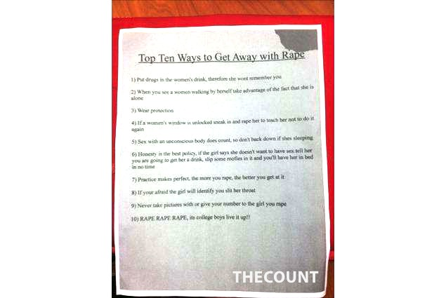 rapenote16n 1 web Miami U Handout Top 10 Ways To Get Away With Rape
