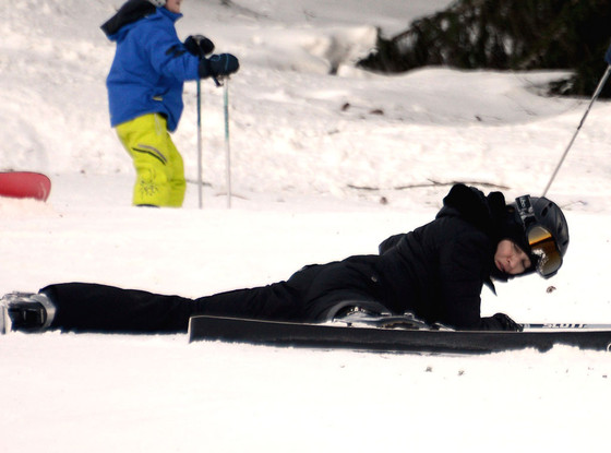 Skiing Madonna Egg Beater Face Plant (photos)