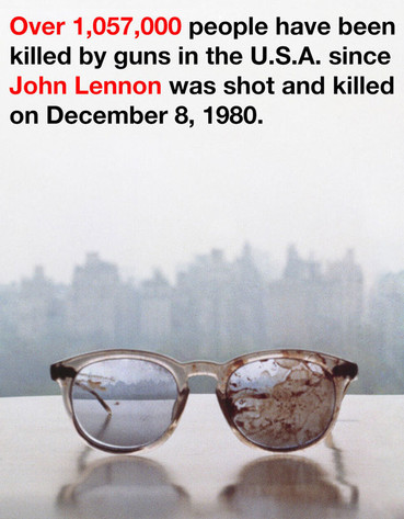 reg 634.LennonGlasses.Yoko .mh .032113 Yoko Ono Tweets SHOCKING BLOOD Spattered John Lennon Spectacles