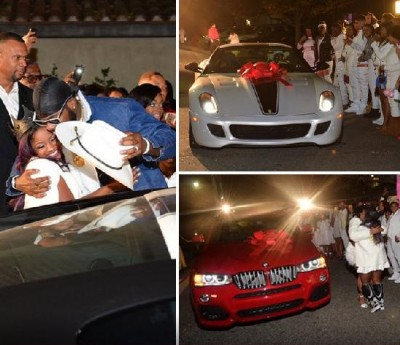 reginae carter b day 400x345 Sweet Sixteen BMW AND FERRARI TOO MUCH?
