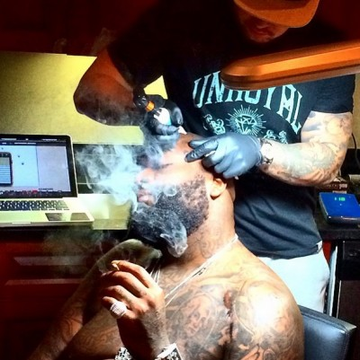 rick ross miami heat face tattoo