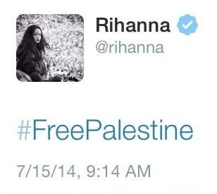 rihanna-tweet--free-palestine