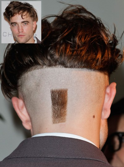 robert pattinson landing strip bowl haircut