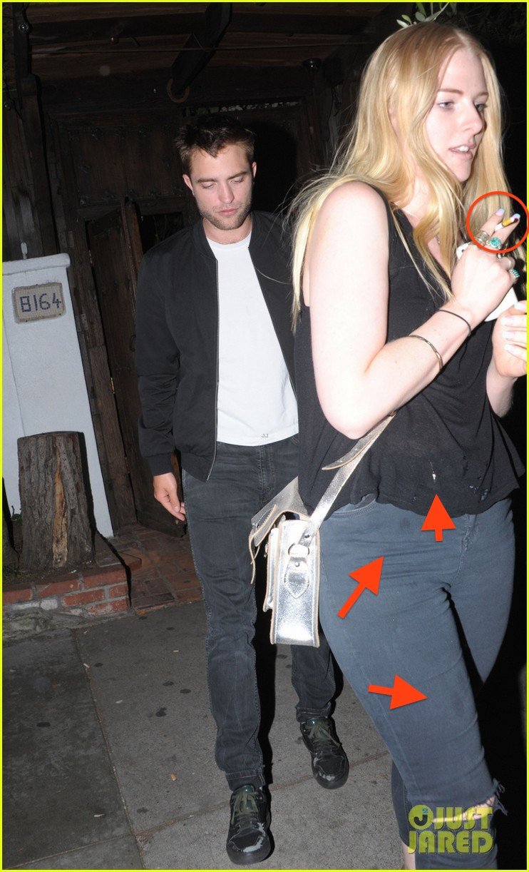 Robert Pattinson leaving The Little Door restaurant at 1am with a blonde mystery woman in Los Angeles