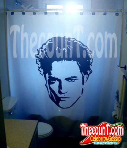 robert pattinson shower curtain you know you want it For Sale on eBay: Robert Pattinsons Snot