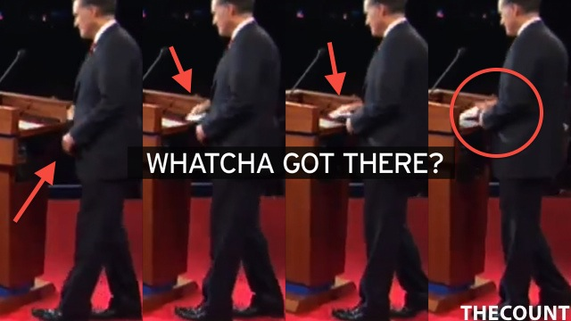 romney cheat sheet Did Romney Use A Cheat Sheet? PHOTO!