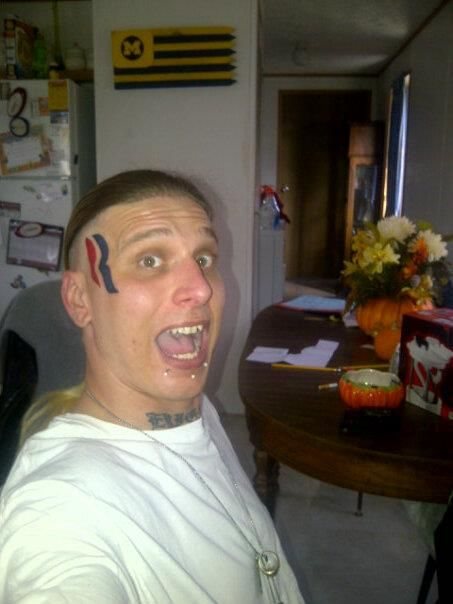 romney face tattoo