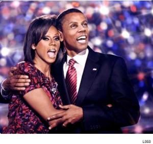 rubama christmas 300x282 Tranny! Fierce! Hot! RuPaul As The Obamas!