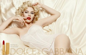 scarlett-300x193 Scarlett Johansson Plays Marilyn for Dolce and Gabbana