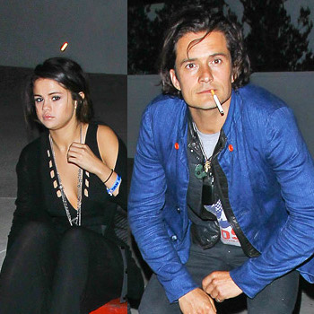 Orlando Bloom and Selena Gomez