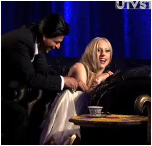 shahrukhgaga Video: Lady Gaga Gets Close with Bollywood Star Shah Rukh Khan