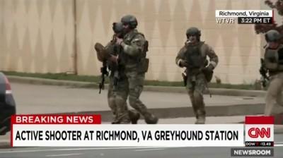 shooting Richmond VA Greyhound Bus Station