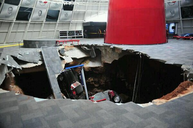 sink hole corvette KY SINKHOLE Gobbles Up 8 RARE CORVETTES!