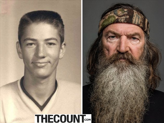 slide13 ytv DuckDynasty ThenAndNow Phil jpg 000008 DUCK DYNASTY BEARDLESS New Duck Dynasty Brother And MORE!