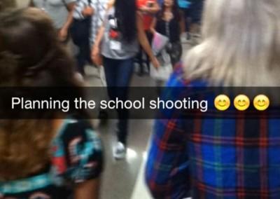 snapchat school shooting