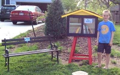 spencer collins front yard library 400x252 Boys Front Yard Library SHUT DOWN By City Officials Over ZONING