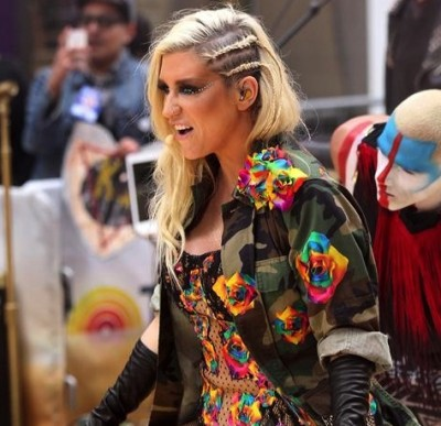 American singer-songwriter Ke$ha performs on NBC Today Show in New York City