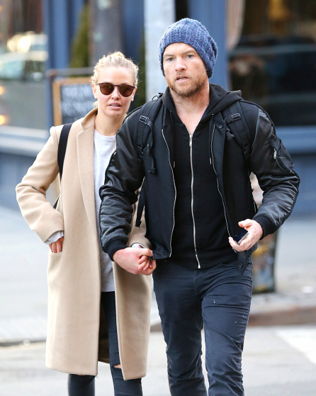 EXCLUSIVE: Sam Worthington and Lara Bingle Walk Around NYC While Getting into a Altercation with a Photographer