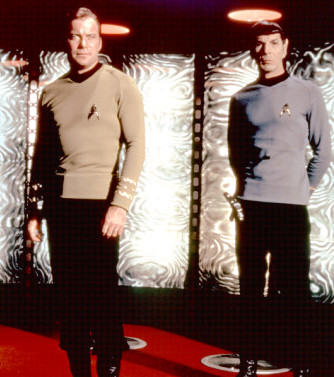 star trek spock kirk in transporter