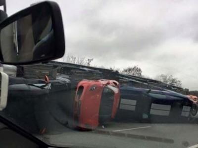 super car crash paris truck 2