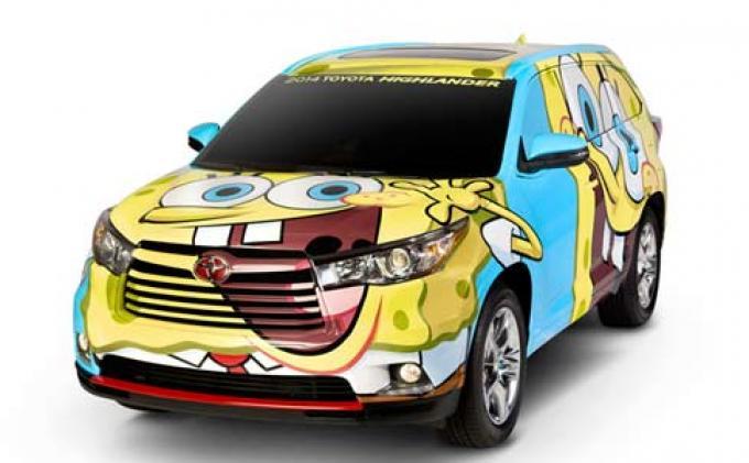 suv-toyota-berlivery-spongebob