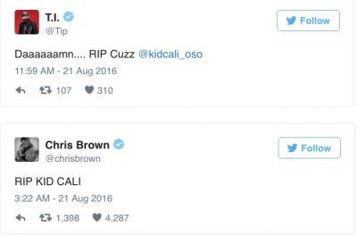 ti kid cali tweet chris brown
