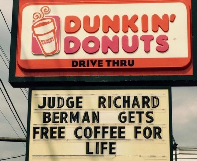 tom brady judge free coffee for life dunkin donuts