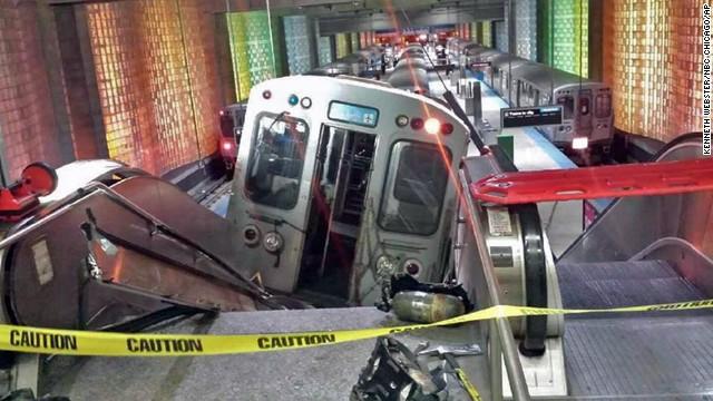 train takes escalator