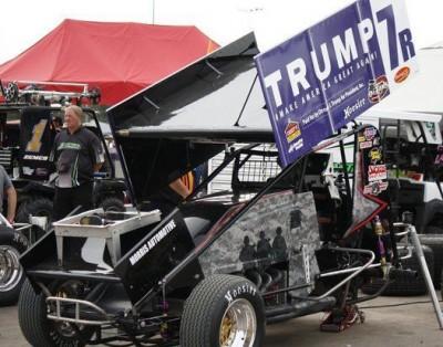 trump adertising on sprint car