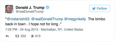 trump megyn kelly bimbo tweet